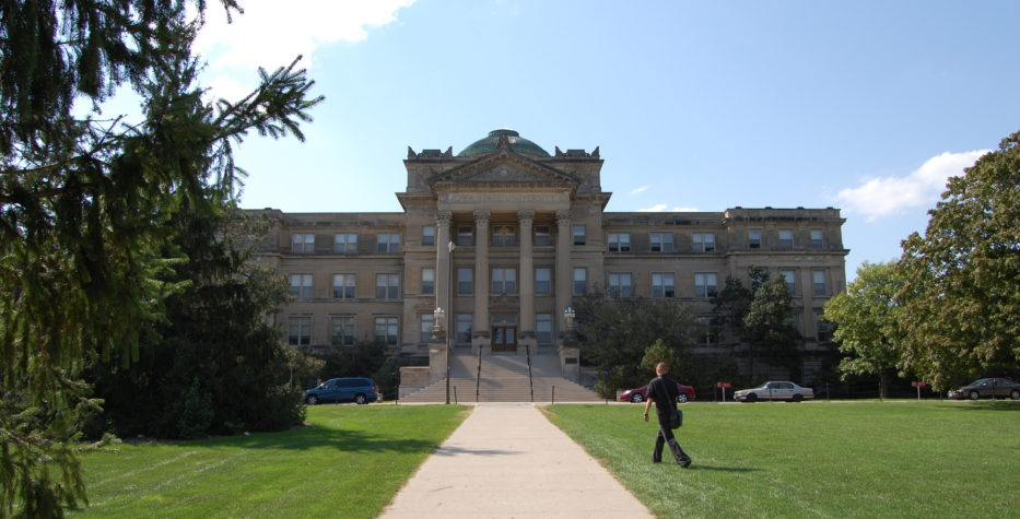 Front view of Beardshear Hall